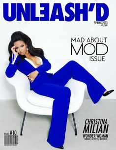 Spring issue of Unleash'd magazine: Christina Milian makes this cover even more beautiful.