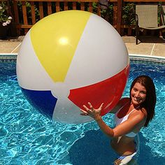 54'' Signature Series Traditionals for $21.95 each Pool Parties, Beach Ball, Big And Beautiful, Balls, Traditional, My Favorite Things, Swimming Pool Parties