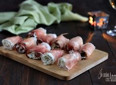 Involtini di speck Antipasto, Finger Foods, Buffet, Garlic, Food And Drink, Appetizers, Dishes, Vegetables, San Valentino