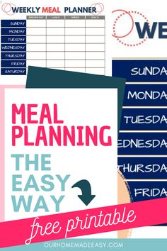 Never wonder what's for dinner again! Use my free one-week meal planning printable and always know what to eat. Save time and money with this one simple hack!