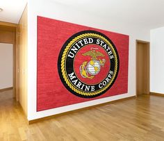 #USMarine Corps High Definition Printed Logo Rug in various sizes. Custom Logo Rug Sizes available. Rug Rats is a trusted name in US Marine Corps Mats.