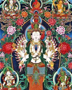 Avalokiteśhvara, infinite compassion. Om Mani Padme Hum #buddhism #buddha #dalailama #instabuddhagram