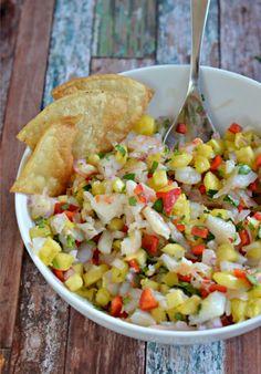 Pineapple Shrimp Salsa   mountainmamacooks.com #tailgate