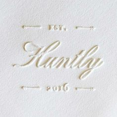 white on white. embossed.