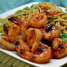 """Sweet and Spicy Grilled Shrimp I """"Easy & delicious! I tossed the shrimp with the sauce - skewered and grilled - no basting - perfect."""""""