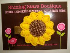 Girls Hair Accessories  Felt Hair Clips  by shiningstarsboutique, $3.50