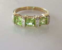 Hey, I found this really awesome Etsy listing at https://www.etsy.com/listing/247014285/9ct-gold-square-peridot-and-diamond-ring