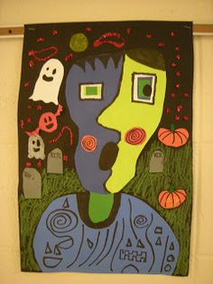 WHAT'S HAPPENING IN THE ART ROOM??: Picasso Monsters