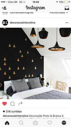 Black White and Gold Bedroom Decor . 30 Luxury Black White and Gold Bedroom Decor . Bedroom White Gold and Black Interior Love the Wall and Black Accent Walls, Black Walls, Gold Walls, Bedroom Black, Monochrome Bedroom, Black White And Gold Bedroom, Royal Bedroom, Black Bedrooms, Bedroom Neutral