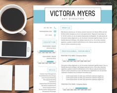 Page Resume Template With Cover Letter  Creative Resume Instant