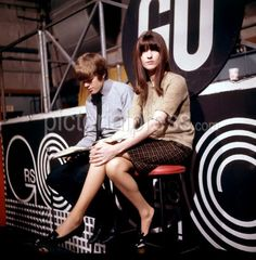 Peter Noone and Cathy McGowan on the set of 'Ready Steady Go' 26th November 1965