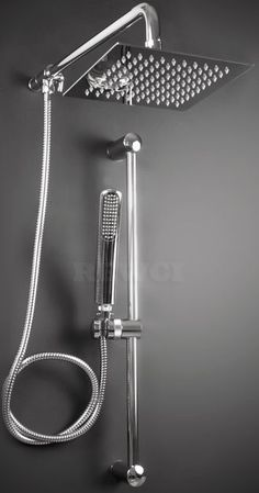 Add a touch of luxury to your bathroom with our Atlantis 18 rain shower head with handheld. This ceiling shower head is stainless steel and easy to clean. Bathroom Remodel Cost, Bath Remodel, Bathroom Renovations, Modern Shower, Modern Bathroom, Small Bathroom, Steam Showers Bathroom, Bathroom Faucets, Rain Shower Bathroom