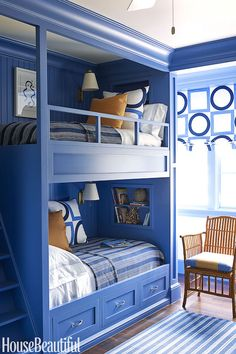 Home tour: palmetto bluffs perfection cozy bedroom, kids bedroom, bedroom decor, bedroom Bunk Bed Rooms, Bunk Beds Built In, Bunk Beds With Stairs, Kids Bunk Beds, Painted Bunk Beds, Cozy Bedroom, Kids Bedroom, Bedroom Decor, Bedroom Ideas