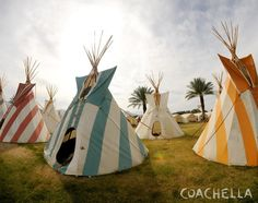 Coachella 2014, Coachella Festival, Outdoor Gear, Nativity, Tent, Teepees, Artwork, Native Americans, Camping