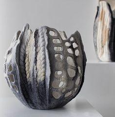 création textile - Maria Friese - felt design | objets sculpturals