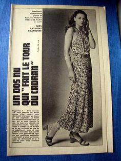 OLD BOSS Paris Fashion: DRESS DOS NU.  T 36/40 (1277)