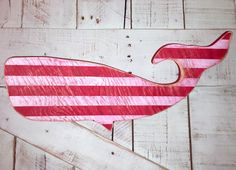 A personal favorite from my Etsy shop https://www.etsy.com/listing/195456068/distressed-red-and-white-striped-whale