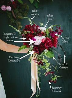 brideal bouquet inspiratino | berry | bohemian bouquet |