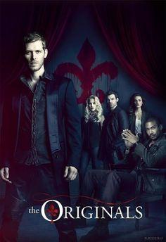 Season 1 - The Originals ; Family Mikaelson :: Klaus (Joseph Morgan), Elijah (Daniel Gillies), Rebekah (Claire Holt), and Hayley (Phoebe Tonkin). +++ also shown, seated: Marcel (Charles Michael Davis)