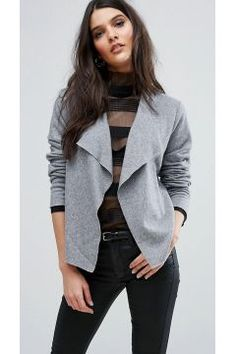 Y.A.S Evita Short Wool Cardigan - Grey