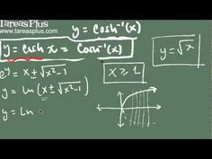 Coseno hiperbólico inverso y su derivada