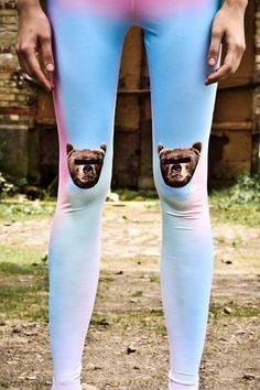 Lol. Love it. ANONYMOUS BEAR Leggings by QooQooFashion on Etsy.