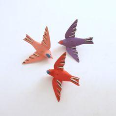 Vintage Wood Birds Sweden by efinegifts on Etsy, $14.95