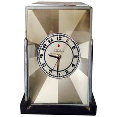Rare Paul Frankl Art Deco Clock | From a unique collection of antique and modern clocks at https://www.1stdibs.com/furniture/decorative-objects/clocks/