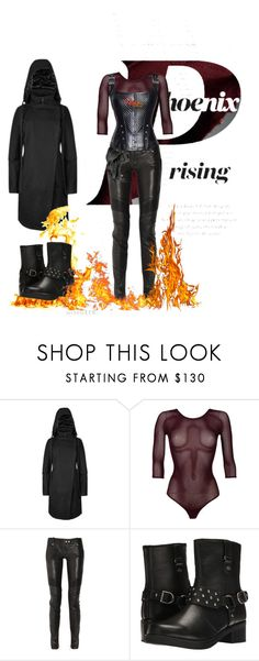"""""""ignis"""" by mangaddict on Polyvore featuring Rocio, Wolford, Balmain and Harley-Davidson"""