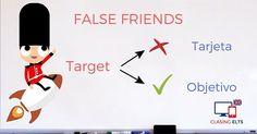 False Friends by CLASINGELTS.com Spanish Language Learning, Learning English, English Tips, English Class, English Vocabulary, English Grammar, False Friends, Grammar Tips, English Letter