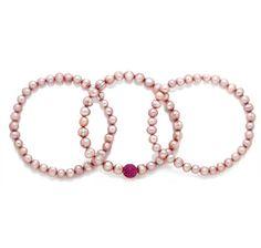 Set of 3 Freshwater Pearl Bracelets