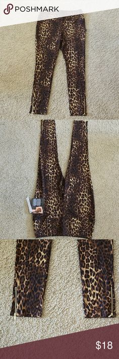 IMAN Global Chic Leopard print Leggings IMAN Global Chic Leopard print Leggings .  Size 1x.  Zipper close at the ankle.  87% rayon 10% nylon 3% spandex the lining on the inside  is 83% nylon 17% spandex.  Estate Sale!!!!!! IMAN Global Chic Pants Leggings
