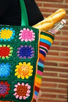 this might be very similar to one of my first crochet projects- bags are a good place to start
