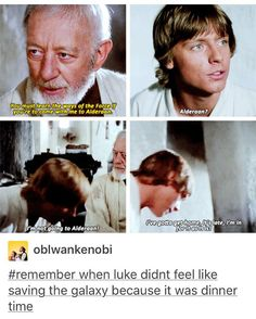 Oh Luke...he is a drama queen and a whiner, like his father before him.