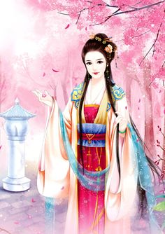 Chinese painting Ancient China, Ancient Art, Fantasy Paintings, Fantasy Art, Chinese Picture, Chinese Drawings, Chinese Cartoon, Painting Of Girl, Girl Paintings