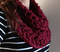 Cozy Cowl  Merlot  Double Stitch by EastToWestCo on Etsy, $15.00