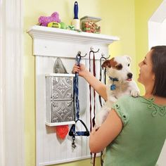 Dog Walking Station - Photo: Laura Moss | thisoldhouse.com | from 37 Easy Ways to Add Storage to Every Room