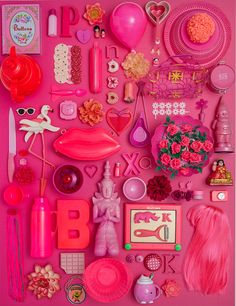 Happy Colors by Aline Houdé-Diebolt, via Behance Pink Love, Red And Pink, Pretty In Pink, Hot Pink, Estilo Kitsch, Tout Rose, Crazy Colour, Everything Pink, Happy Colors