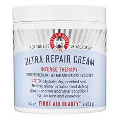 First Aid Beauty Ultra Repair Cream  | Sephora ❤️❤️❤️❤️ for dehydrate skin apply a thin layer in the morning before makeup doesn't leave you greasy great as a moisturizer