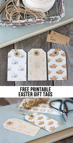 Printable easter gift tags and gift wrap from easter wraps and gift free vintage inspired printable easter gift tags simply print and cut livelaughrowe negle Choice Image