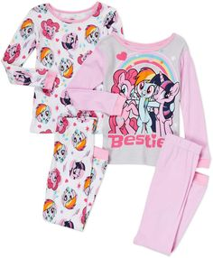 My Little Pony Girls Little Pony Pajama Set Toddler Girl Outfits, Kids Outfits, Jojo Siwa Birthday, My Little Pony Pictures, Cuffed Pants, Bnf, Little Girl Fashion, Little Princess, Future Baby