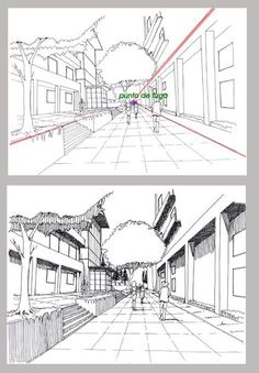 Drawing Tips Perspective 1 Point Perspective, Perspective Drawing Lessons, Perspective Sketch, Drawing Techniques, Drawing Tips, Drawing Reference, 3d Drawings, Urban Sketching, Art Tutorials