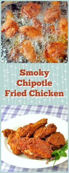 Smoky Chipotle Fried Chicken - I've tried many versions of fried chicken over the years both at home and all over the south but this is hands down my absolute favorite recipe. The chicken is brined to make it extra juicy and the smoky spices in the crust are reminiscent of good barbecue.