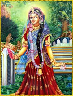 """☀ ♥ SHRI RADHIKA ♥ ☀ """"O Shri Radhika, O Queen of Vrindavana, You are a river flowing with the nectar of mercy. Please be kind upon me, and give me a little service at Your lotus feet. Lord Krishna Images, Radha Krishna Pictures, Radha Krishna Photo, Krishna Photos, Krishna Art, Radhe Krishna, Krishna Statue, Radha Krishna Wallpaper, Radha Rani"""