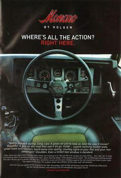 How simple and basic advertising was back then. The Monaro had such a horny interior. Would have seen a lot of action! Australian Muscle Cars, Aussie Muscle Cars, Vintage Racing, Vintage Cars, Hq Holden, Holden Monaro, Holden Australia, Fast Sports Cars, Car Brochure
