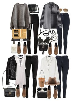 """How to style suede boots from H&M"" by nikka-phillips ❤ liked on Polyvore featuring Le Labo, Acne Studios, H&M, Isabel Marant, Ray-Ban, Topshop, Daniel Wellington, Frame Denim, Yves Saint Laurent and Scosha"