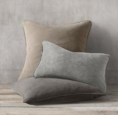 Belgian Linen Stonewashed Pillow Collection | Restoration Hardware
