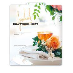 """Premium Faltgutschein """"Multicolor"""" G2022 für die Gastronomie, Restaurants, Gasthäuser, Gaststätten! Restaurants, Container, Table Decorations, Food, Home Decor, Fine Dining, Things To Do, Cards, Gifts"""