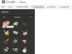 Efectos de sonido ya disponibles en las quedadas de Google+