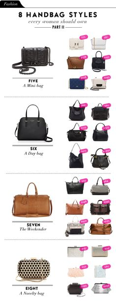 Part II 8 Handbag Styles Every Woman Should Own | The Vault Files